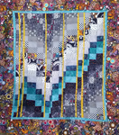 Barb's Beautiful Bargello from the Braided River Quilters' workshop, April 2013